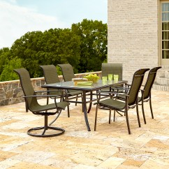 Garden Oasis Patio Chairs Womb Chair Review Harrison 7 Piece Dining Set In Green Sears