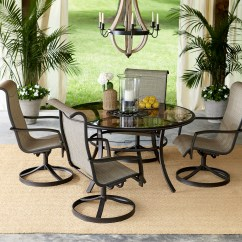 Best Outdoor Dining Chairs Zero Gravity Reviews Garden Oasis Providence 5 Piece Swivel Set