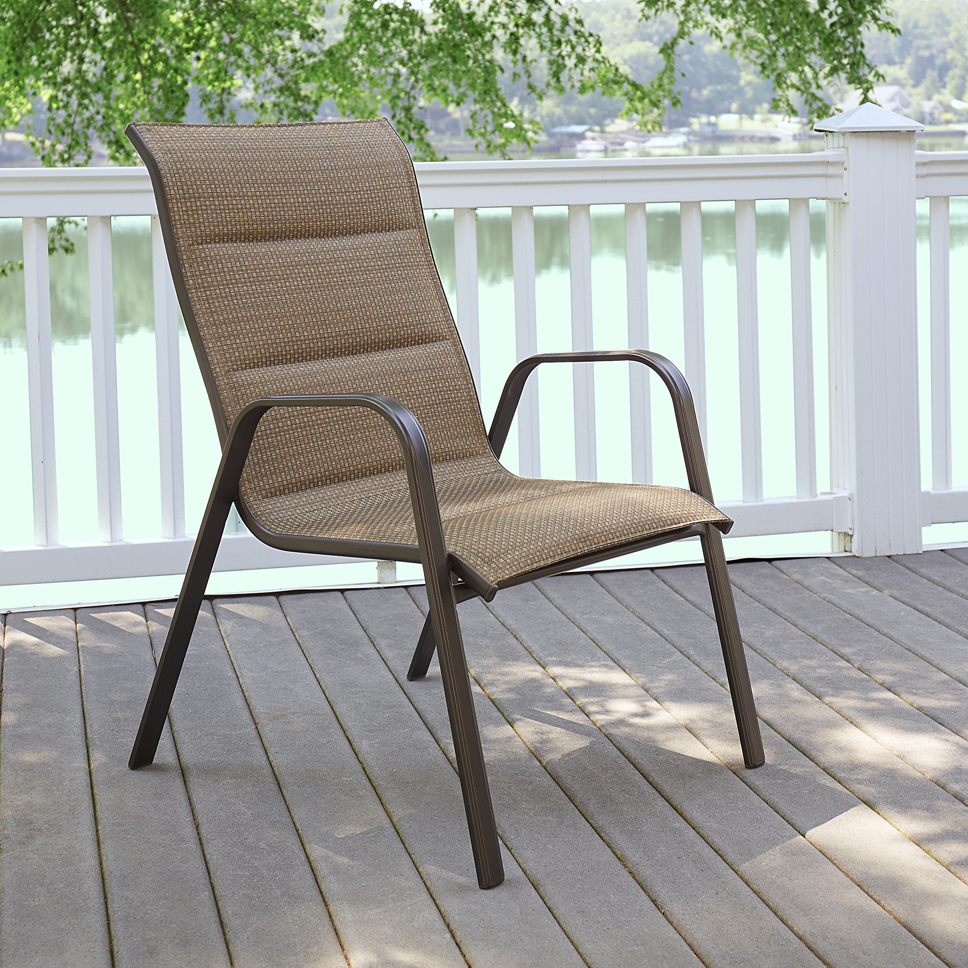Garden Oasis Harrison Oversized Padded Dining Chair  Brown
