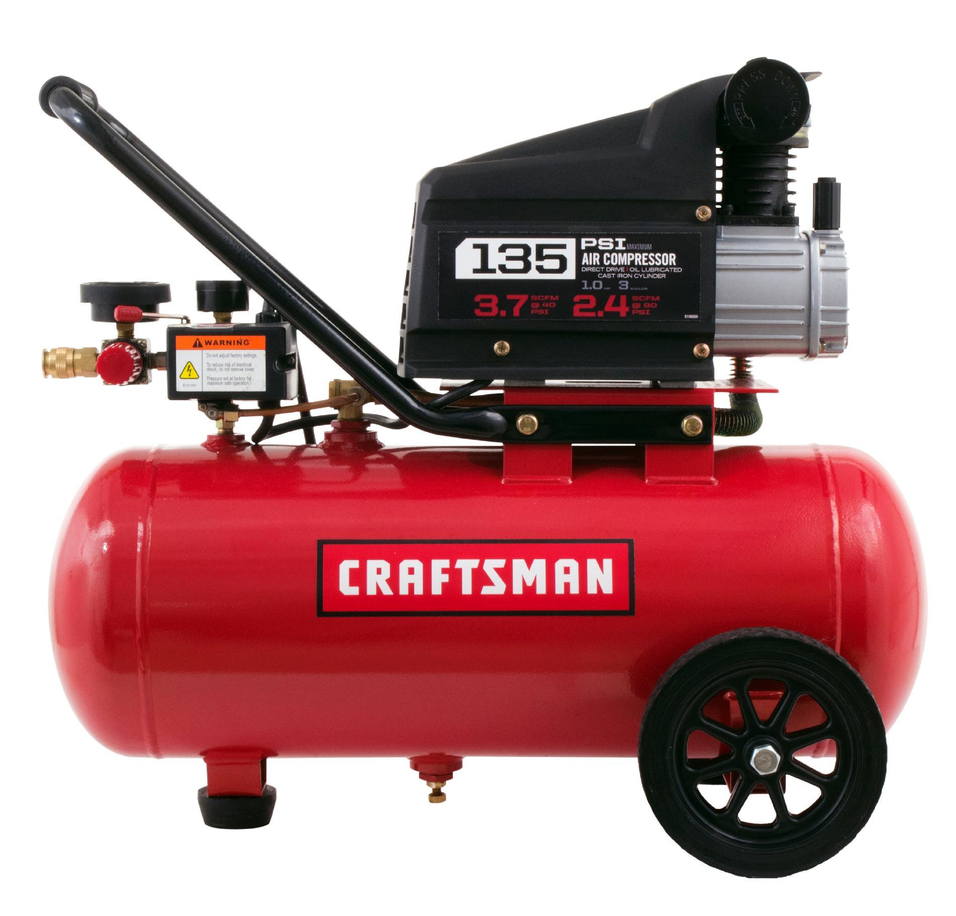 Craftsman 7 Gallon 1.0 Hp Horizontal Air Compressor 135