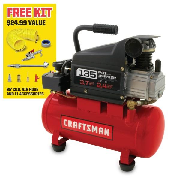 Craftsman 3 Gallon 1 Hp Oil-lubricated Air Compressor