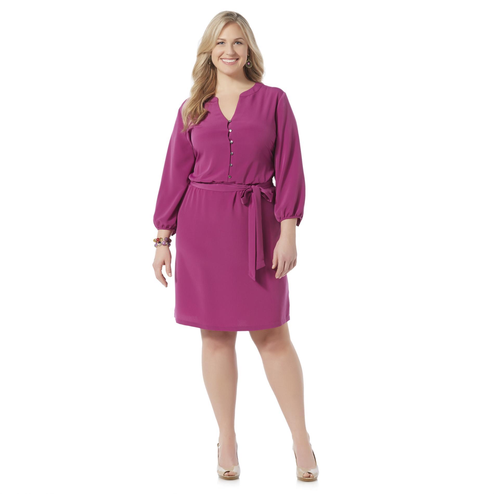 Covington Women39s Plus Belted Dress