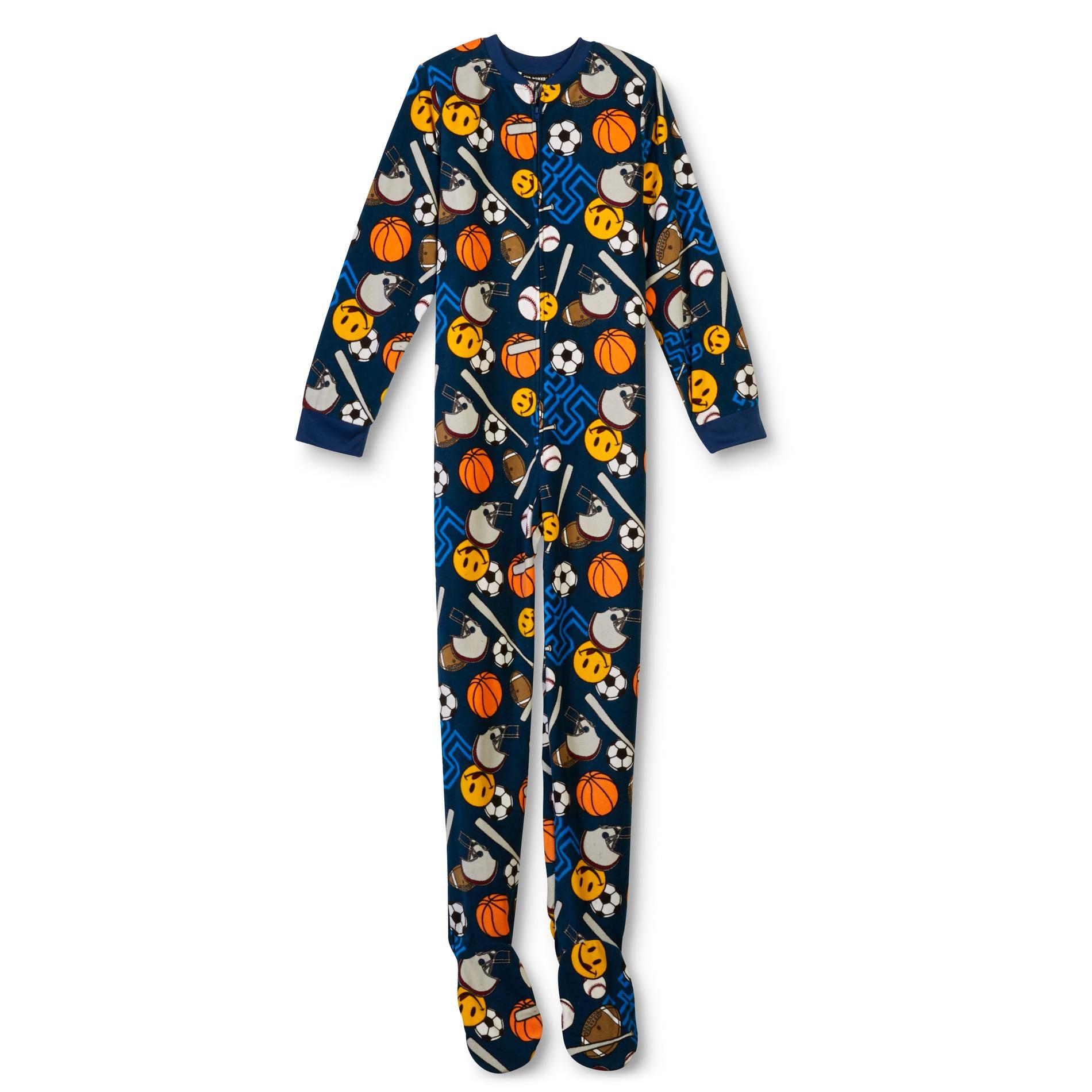 Joe Boxer Boy' Fleece Footed Pajamas - Sports Sears