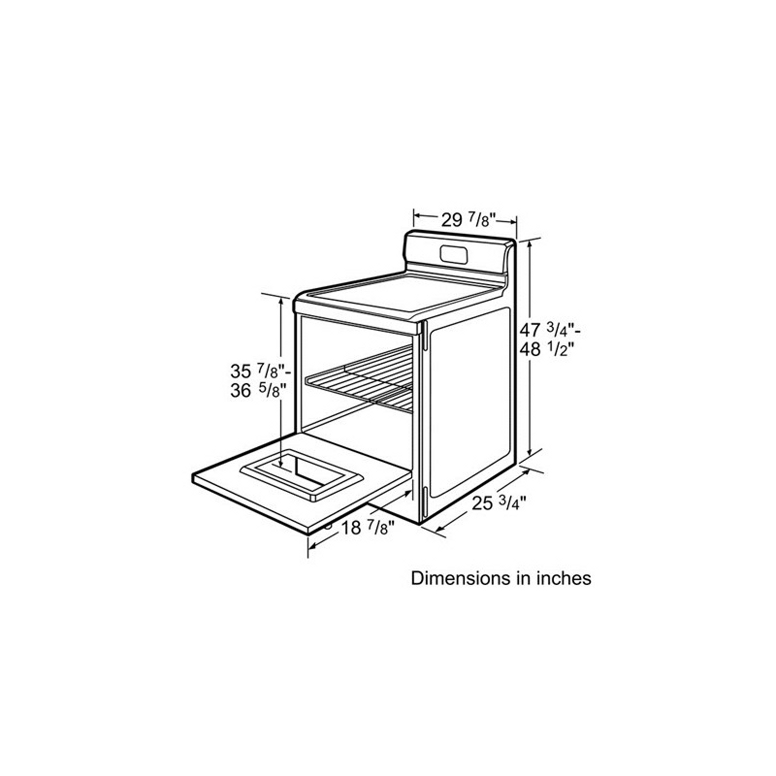 hight resolution of bosch 5 4 cu ft freestanding electric range sears craftsman riding mower wiring diagram bosch 5