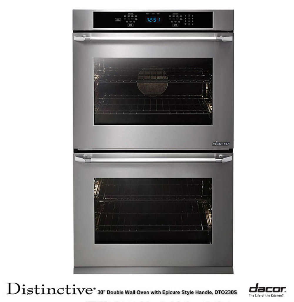 hight resolution of dacor dto230fs distinctive 30 double wall oven w flush handle stainless steel