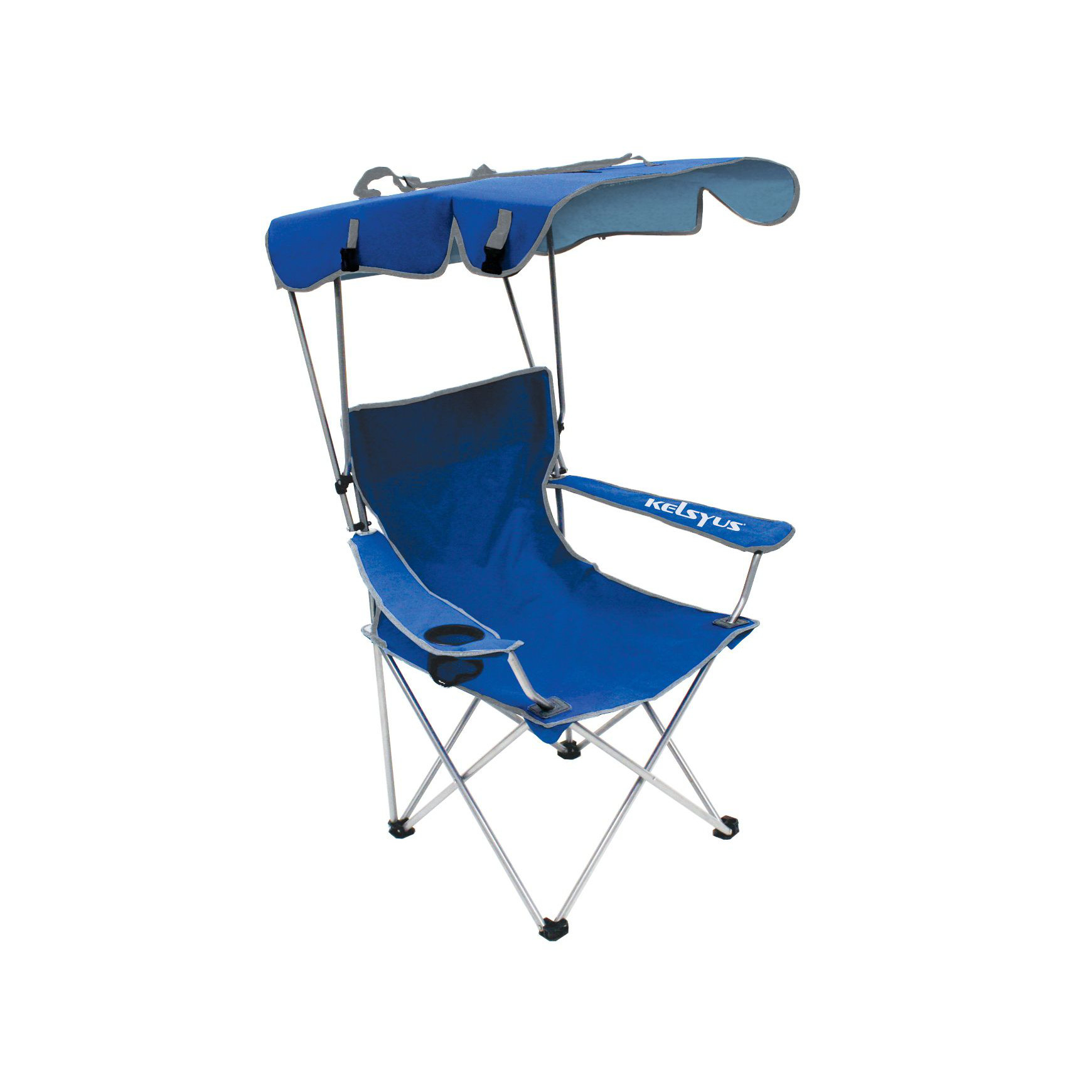 Camping Chair With Canopy Kelsyus Convertible Canopy Chair Blue