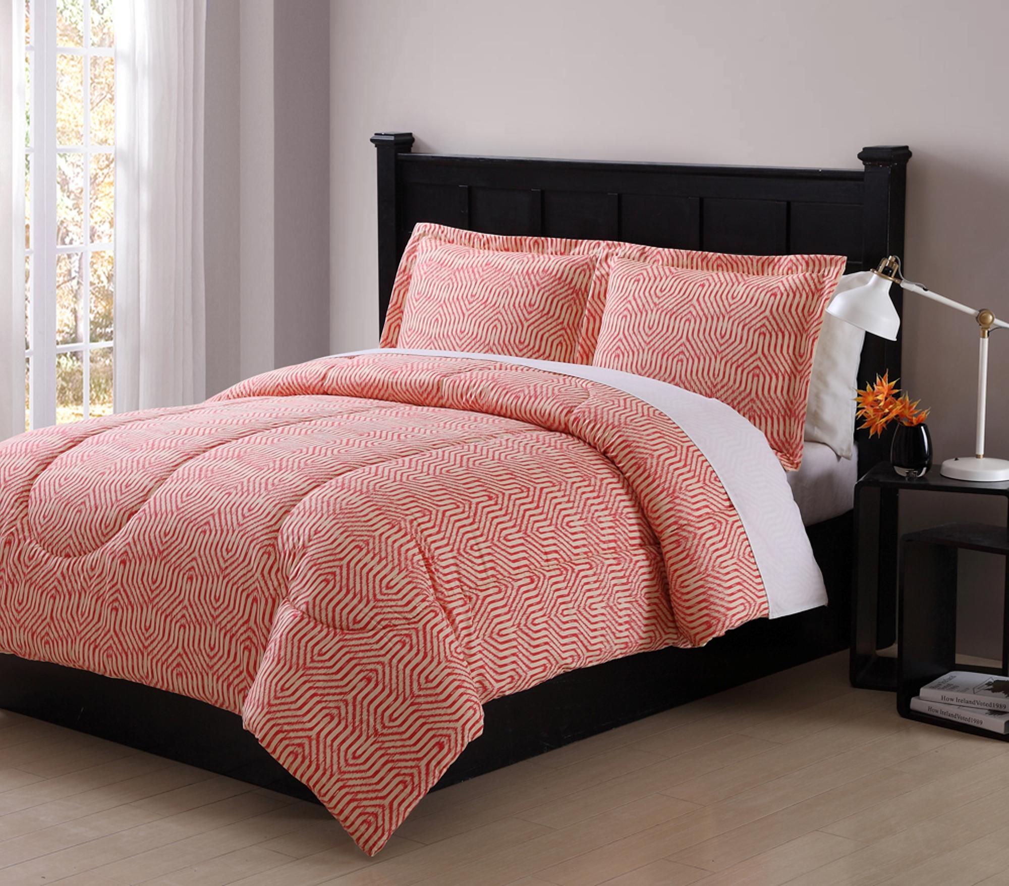 Colormate Coral Ikat Comforter Set Home Bed Amp Bath