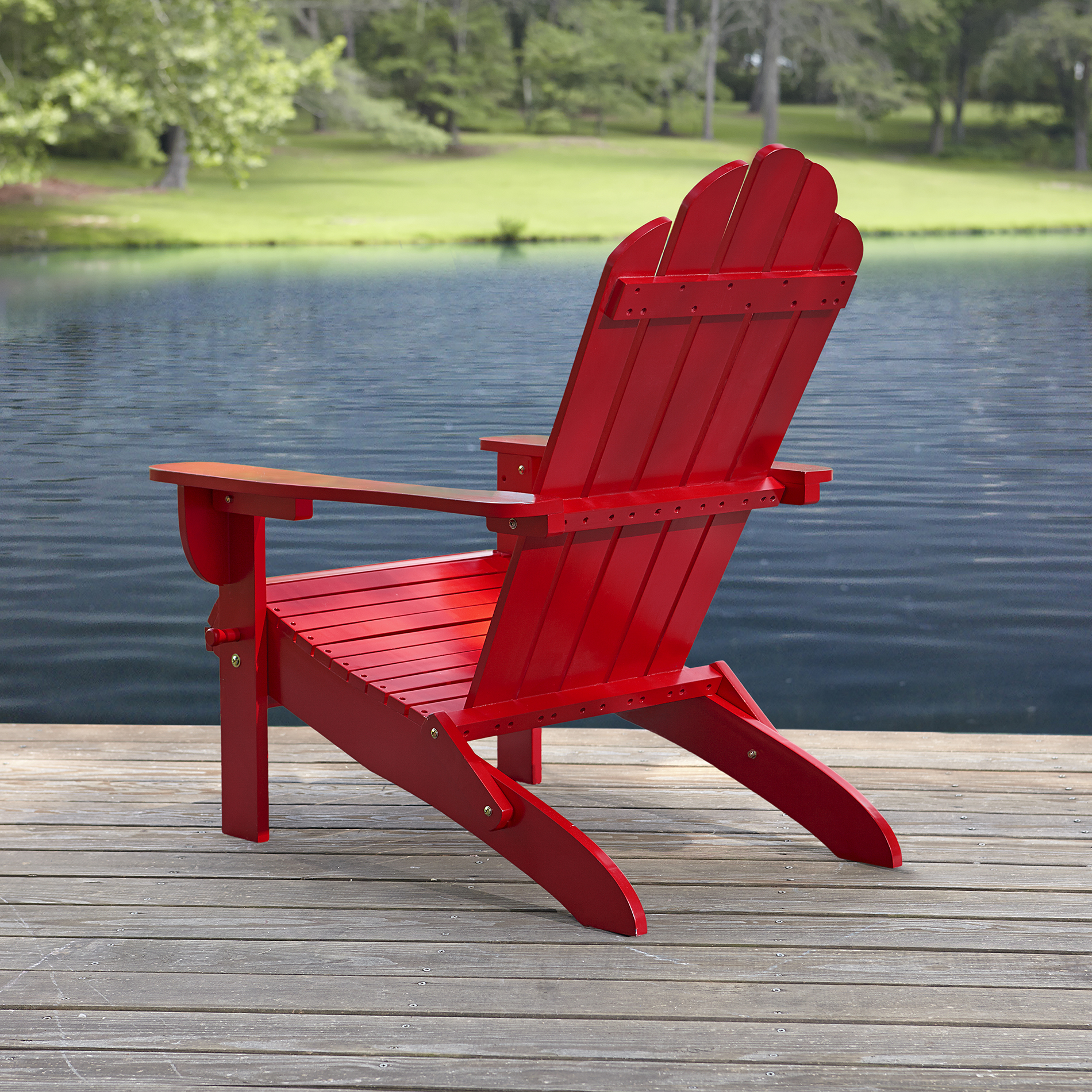 Garden Oasis Adirondack Chair  Red Free Shipping New  eBay