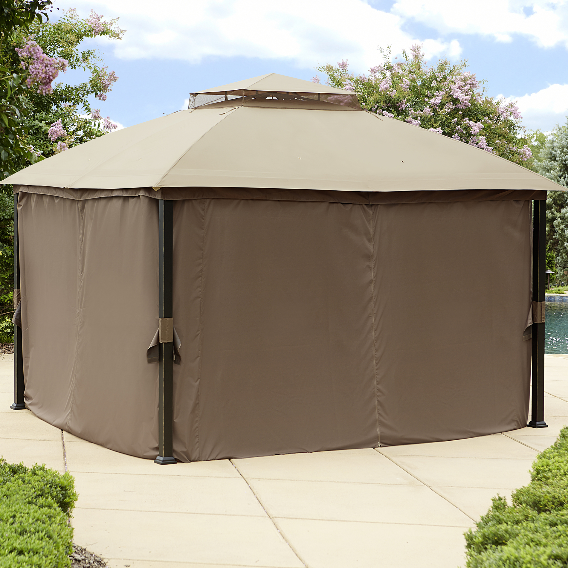 Garden Oasis Replacement Canopy Privacy Gazebo