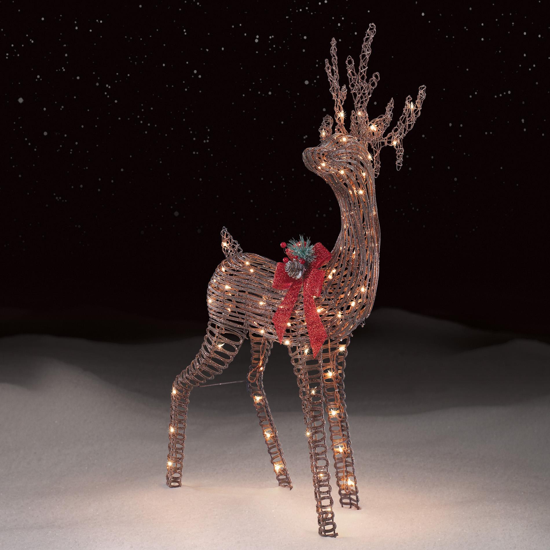 Christmas Deer Lawn Ornaments