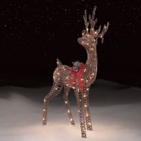 Roebuck & Co. Grapevine Standing Deer Outdoor Christmas Decor
