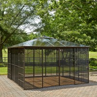 Grand Resort Square 12' x 12' hardtop gazebo with screen ...