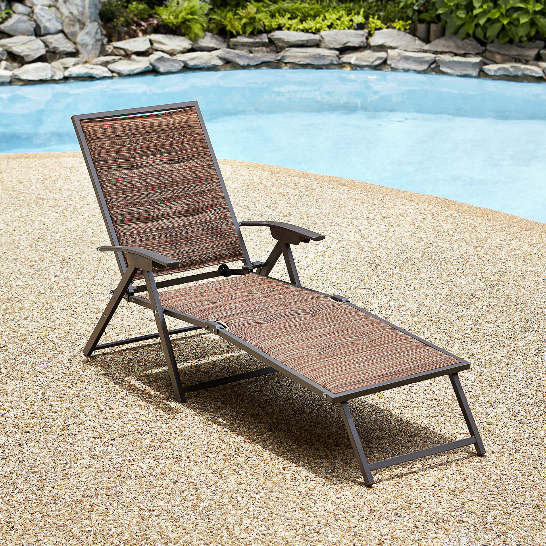Garden Oasis Matching Folding Padded Chaise - Palmetto