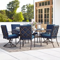 Grand Resort Fairfax 7pc Dining Set- Blue - Limited ...