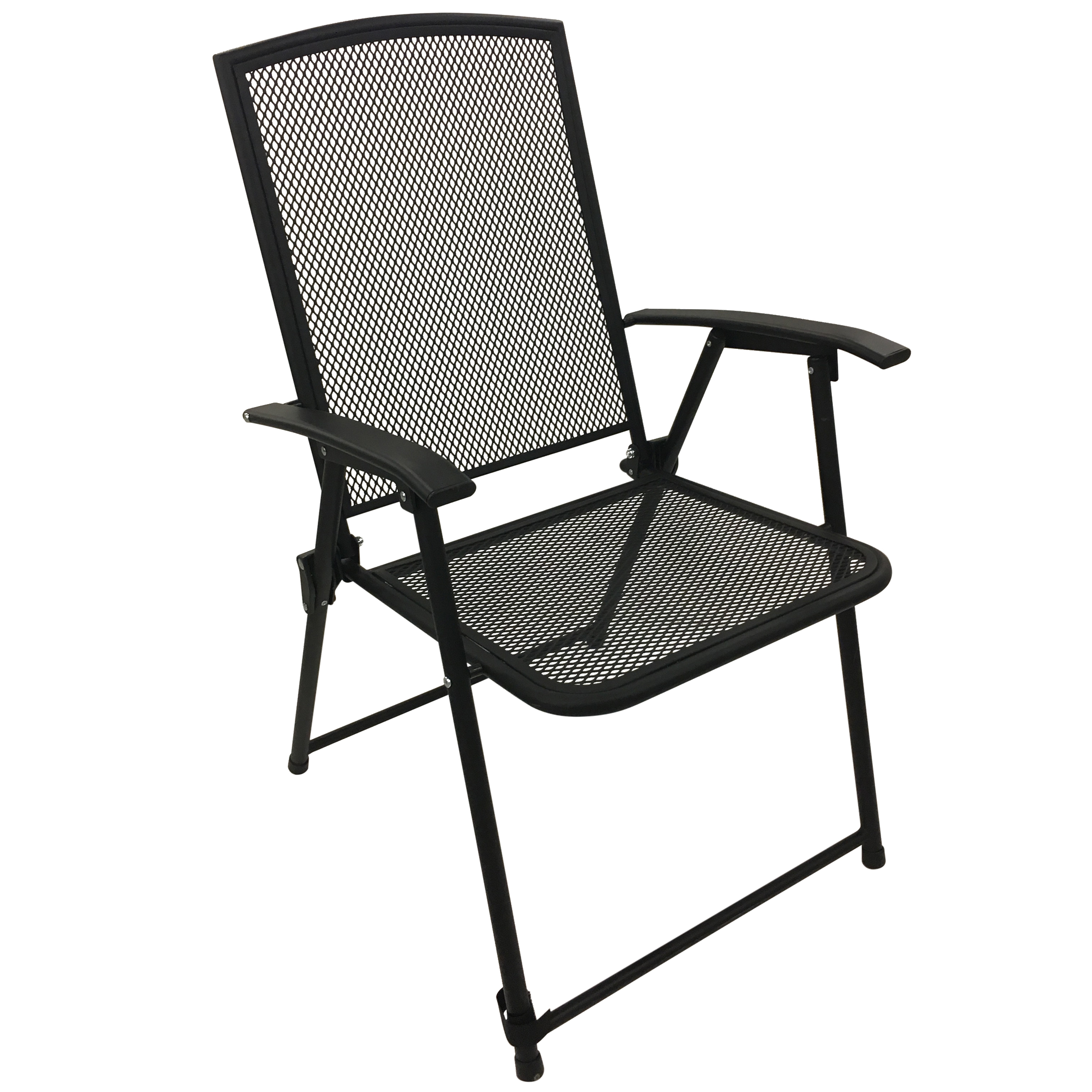 Folding Arm Chair Garden Oasis Mesh Metal Folding Arm Chair Limited