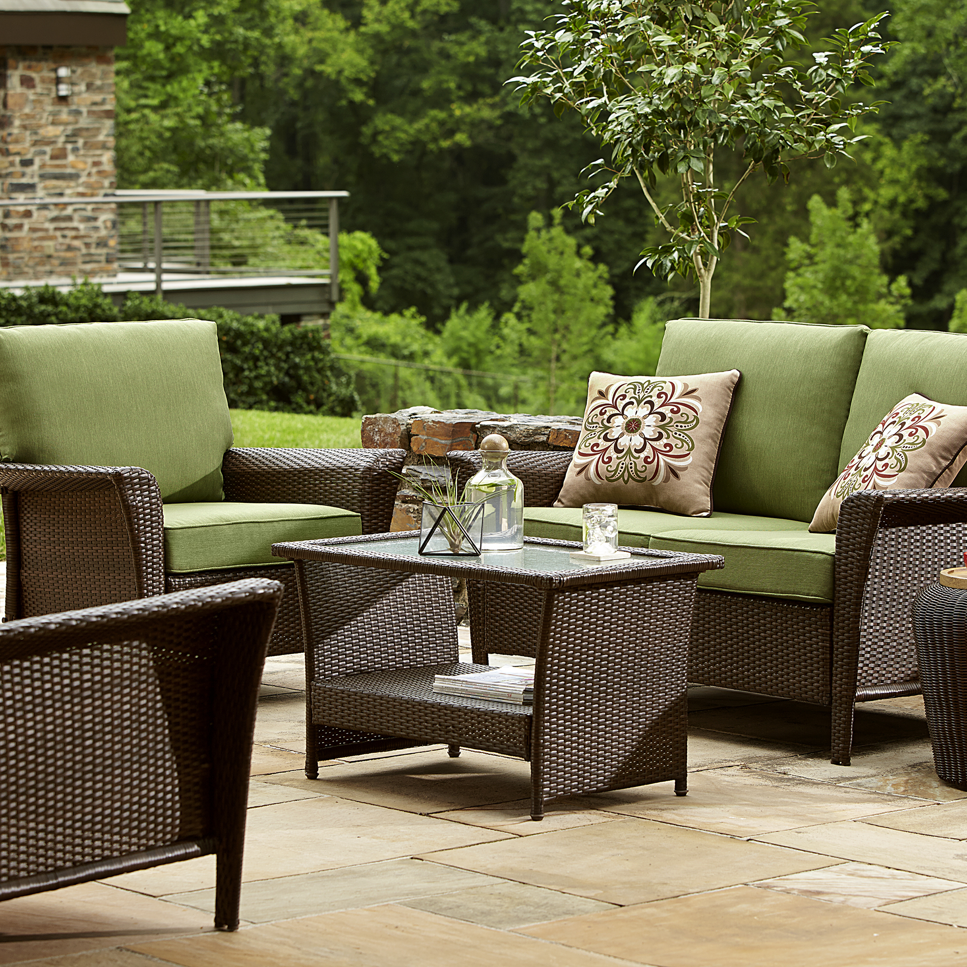 Ty Pennington Style Parkside Deep Seating Set in Green  Sears