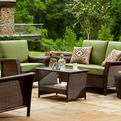 Green Lawn Chairs Good Posture Chair Ty Pennington Style Parkside Deep Seating Set In Sears