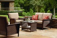 Ty Pennington Style Parkside Deep Seating Set in Brown - Sears