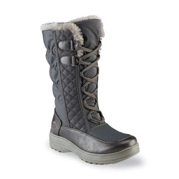 Totes Women' Claudia Gray Faux Fur Cold Weather Snow Boot Online Shopping