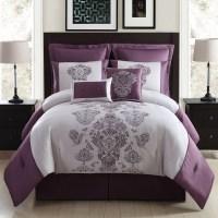 8-Piece Embroidered Comforter Set - Purple Pendant - Home ...