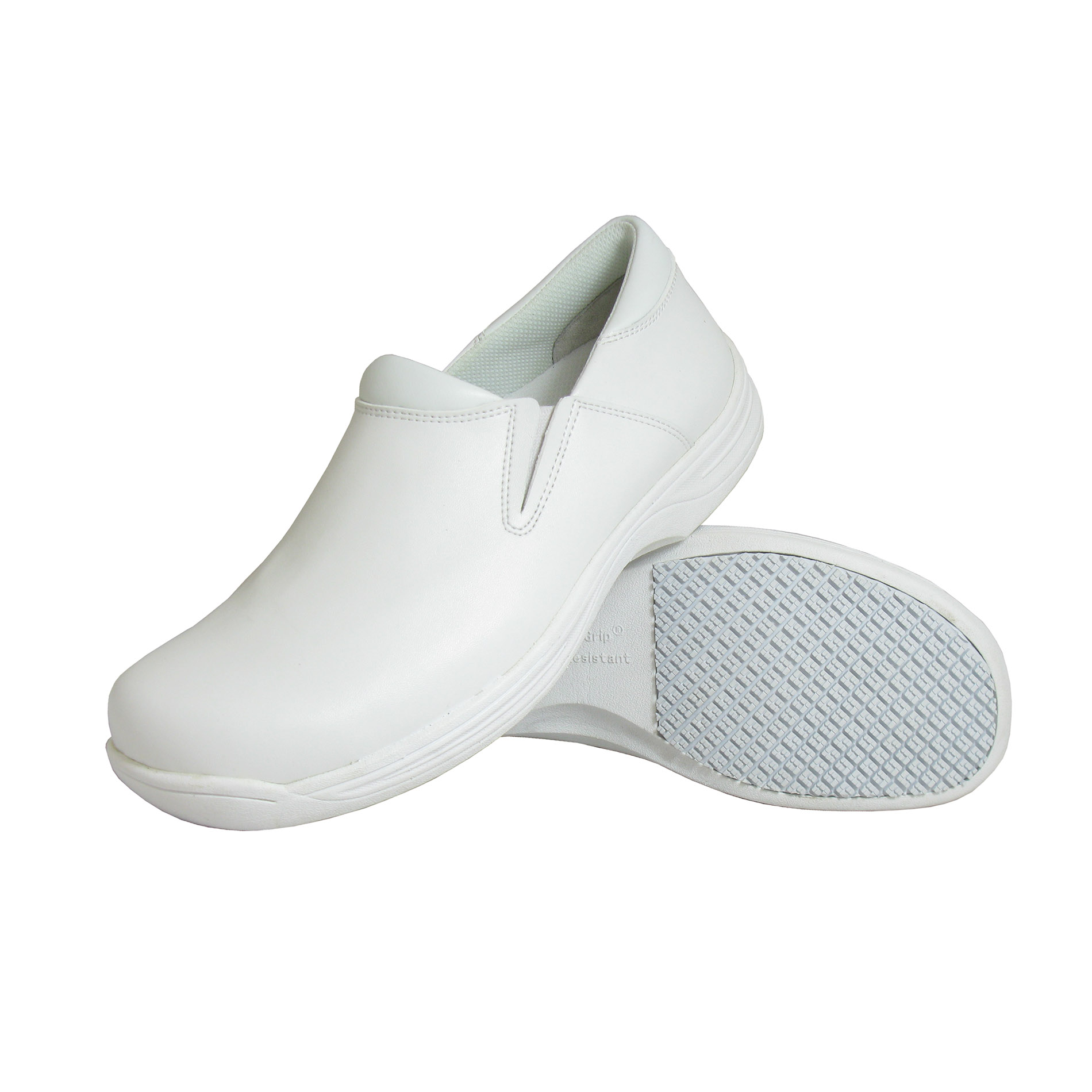 White Slip Resistant Work Shoes