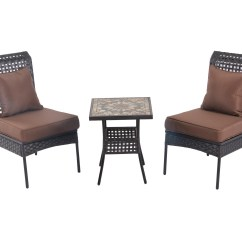 All Weather Wicker Outdoor Chairs Large Recliner Patio Sense Zuni 3pc Bistro Set