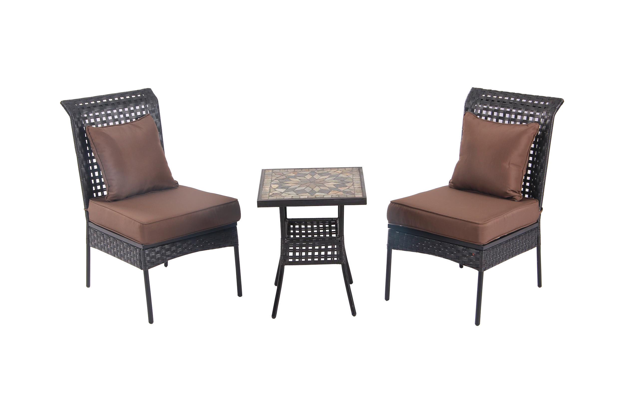 bistro table and chairs kmart ergonomic chair manufacturers patio sense zuni all weather wicker 3pc set