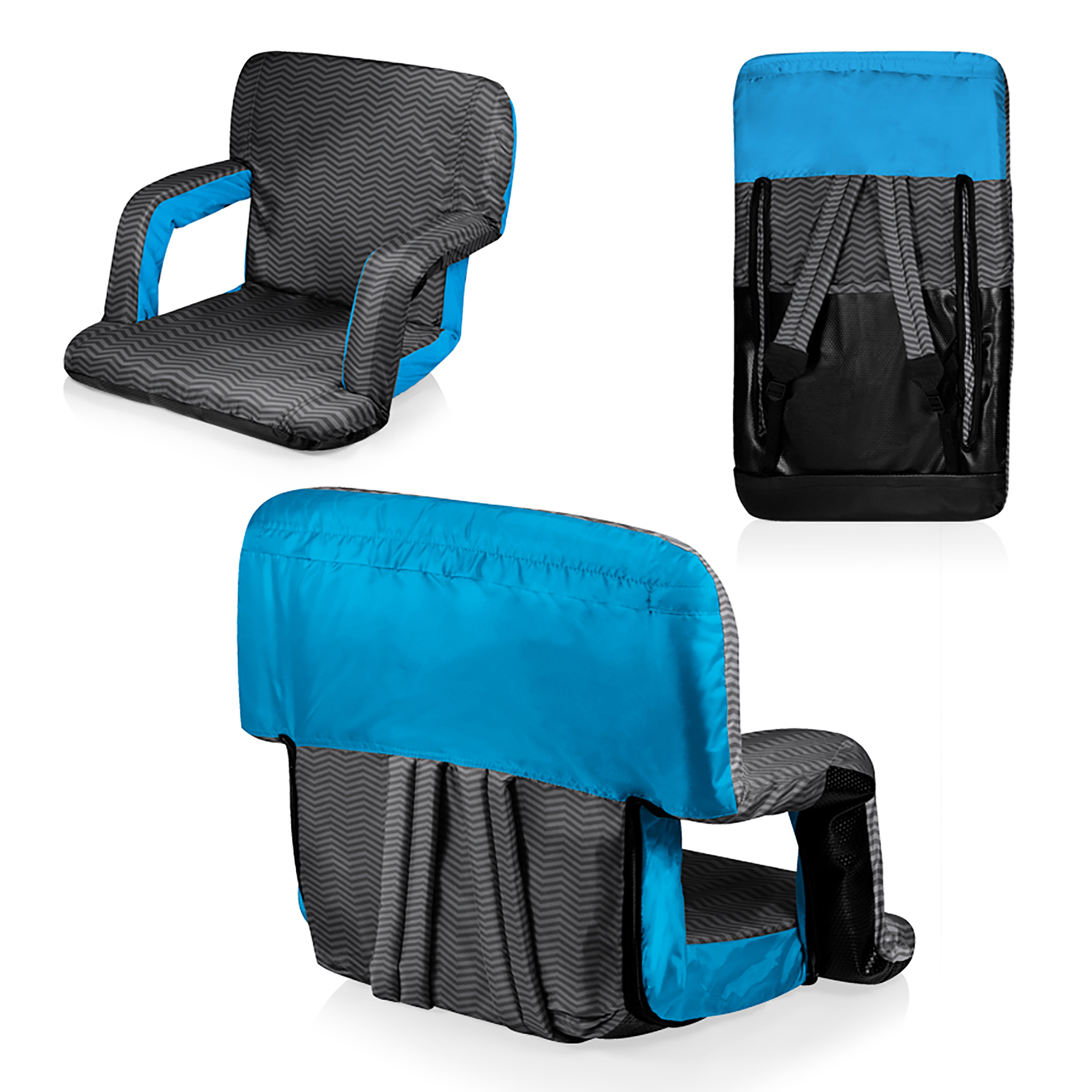 Picnic Time Stadium Chair Picnic Time Ventura Seat Portable Recliner Chair Waves