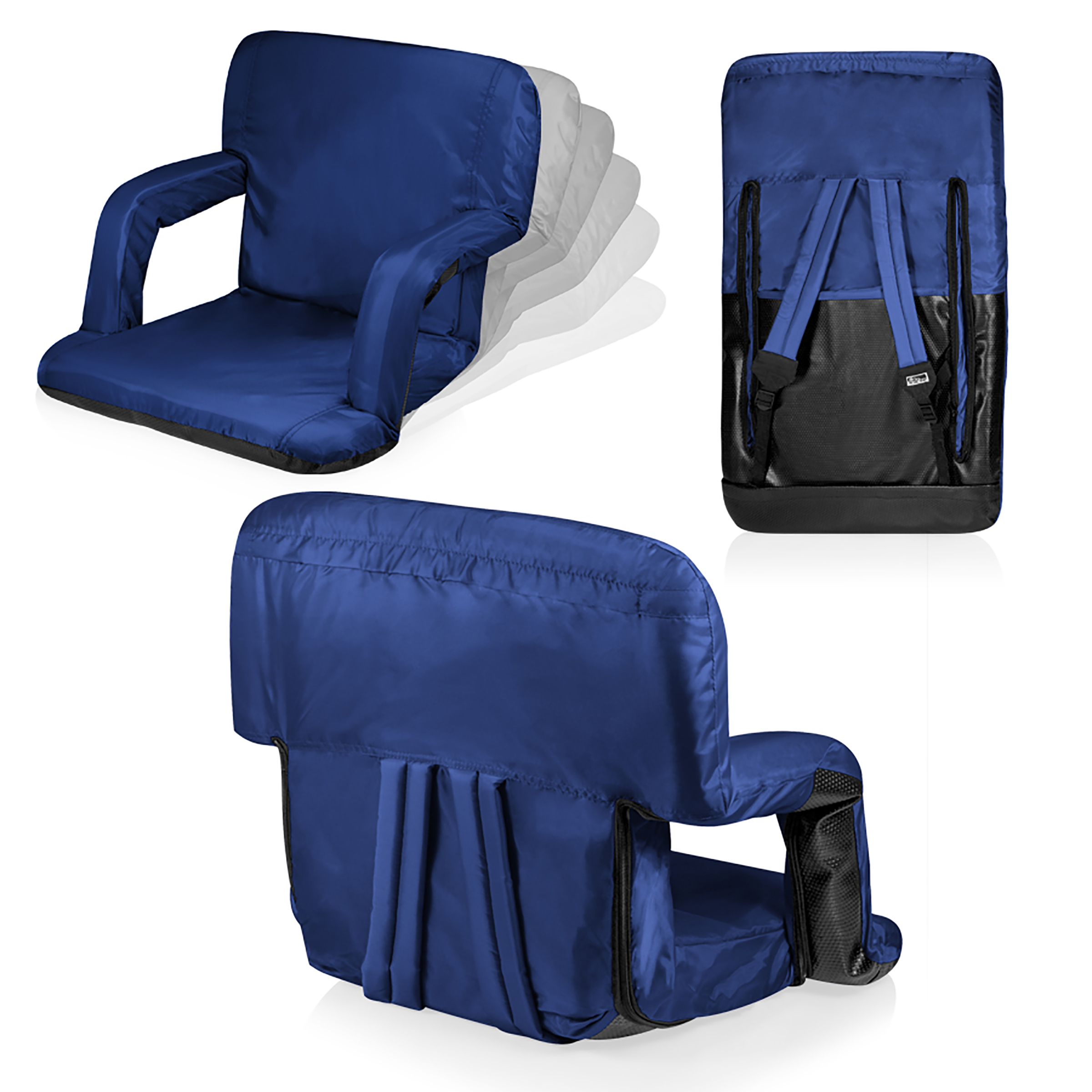 picnic time chair parts hanging adelaide ventura seat portable recliner navy