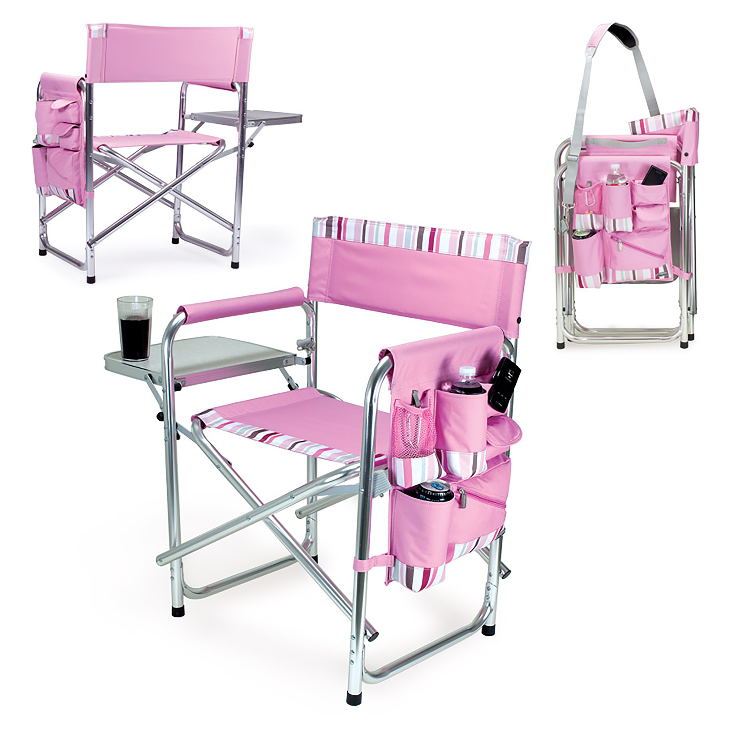 picnic time sports chair weaving supplies pink