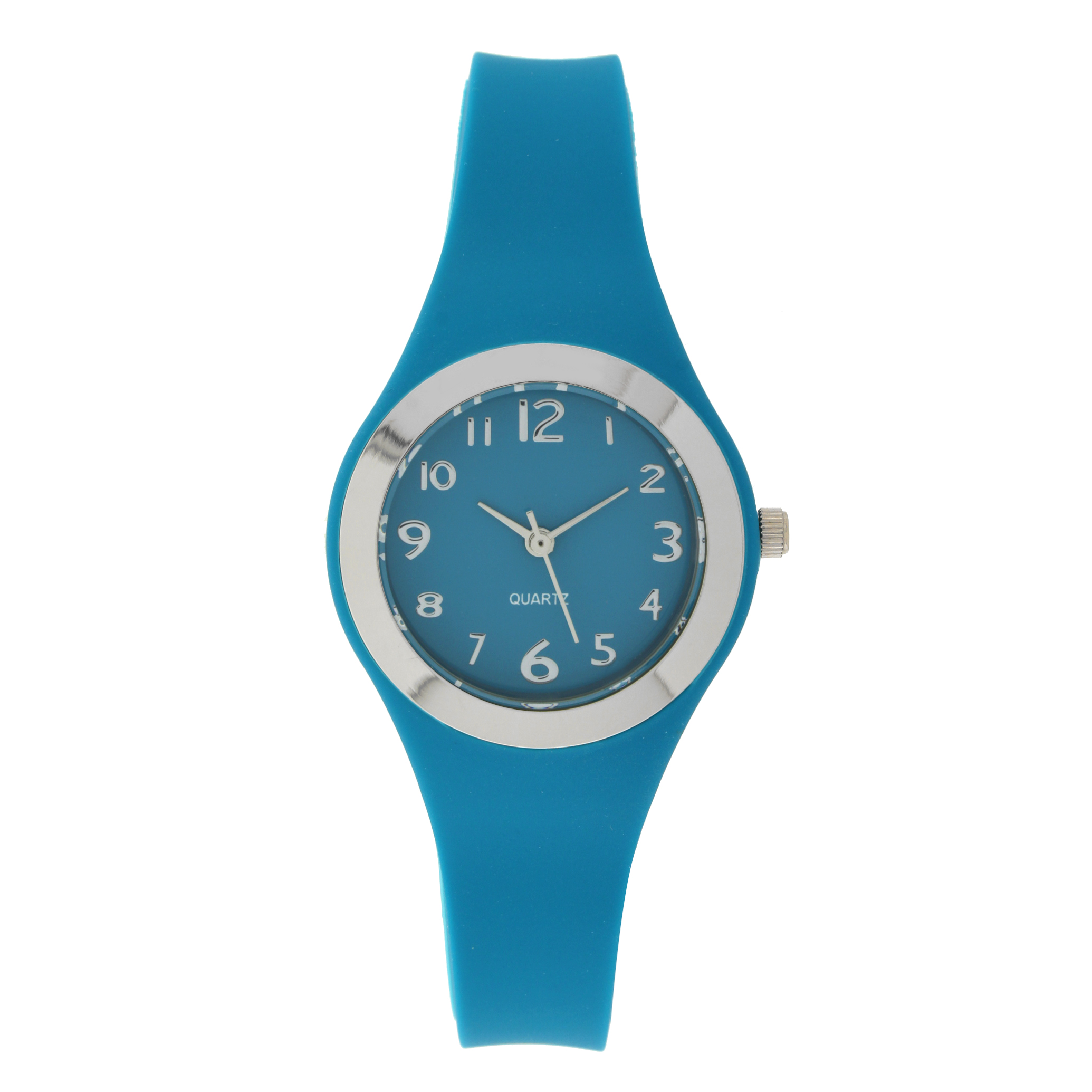 Ladies Blue Rubber Strap Watch