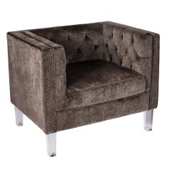 Contemporary Accent Chair Gym Dvd Lumisource Valentina In Brown