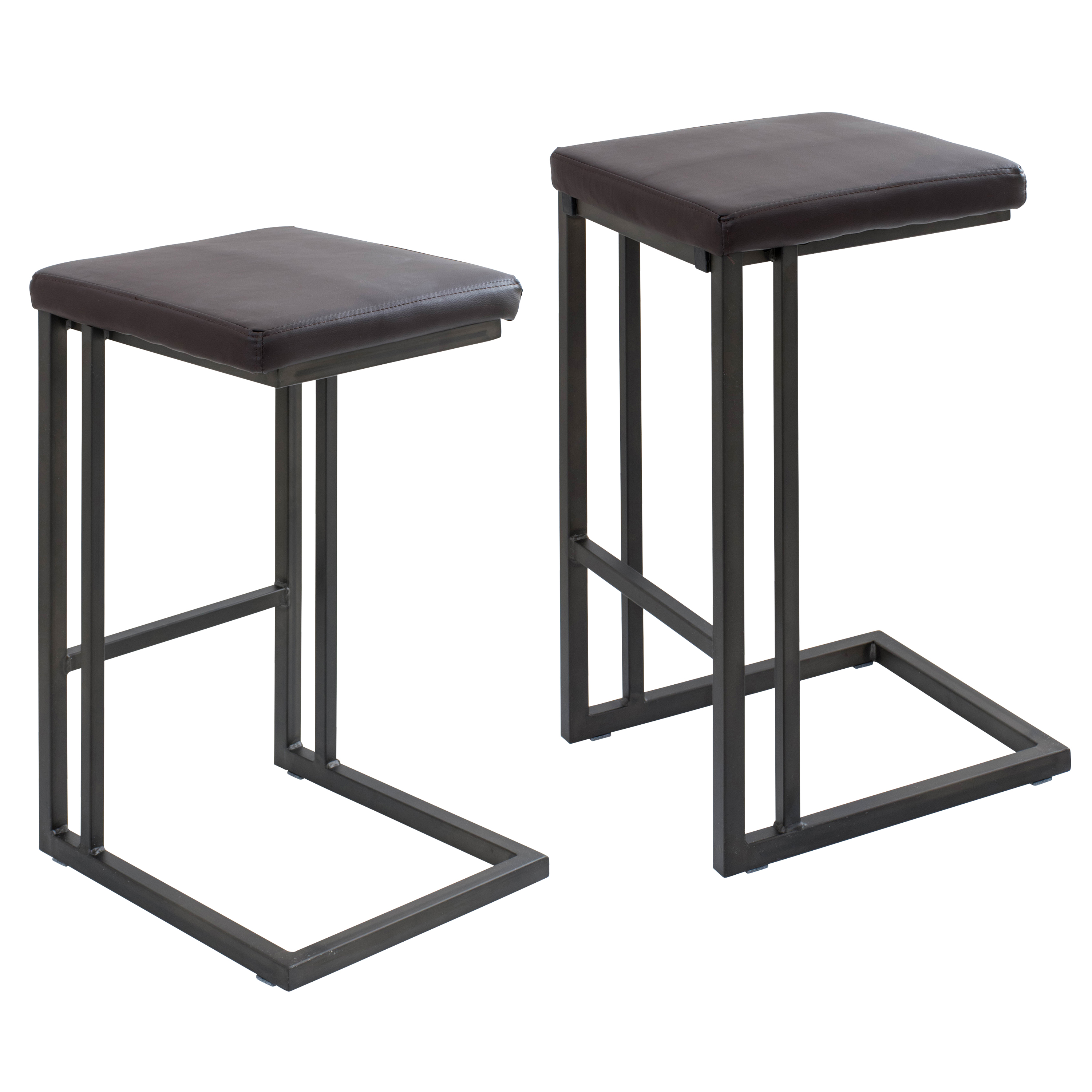industrial chairs target plastic garden lumisource pair of roman counter stools in
