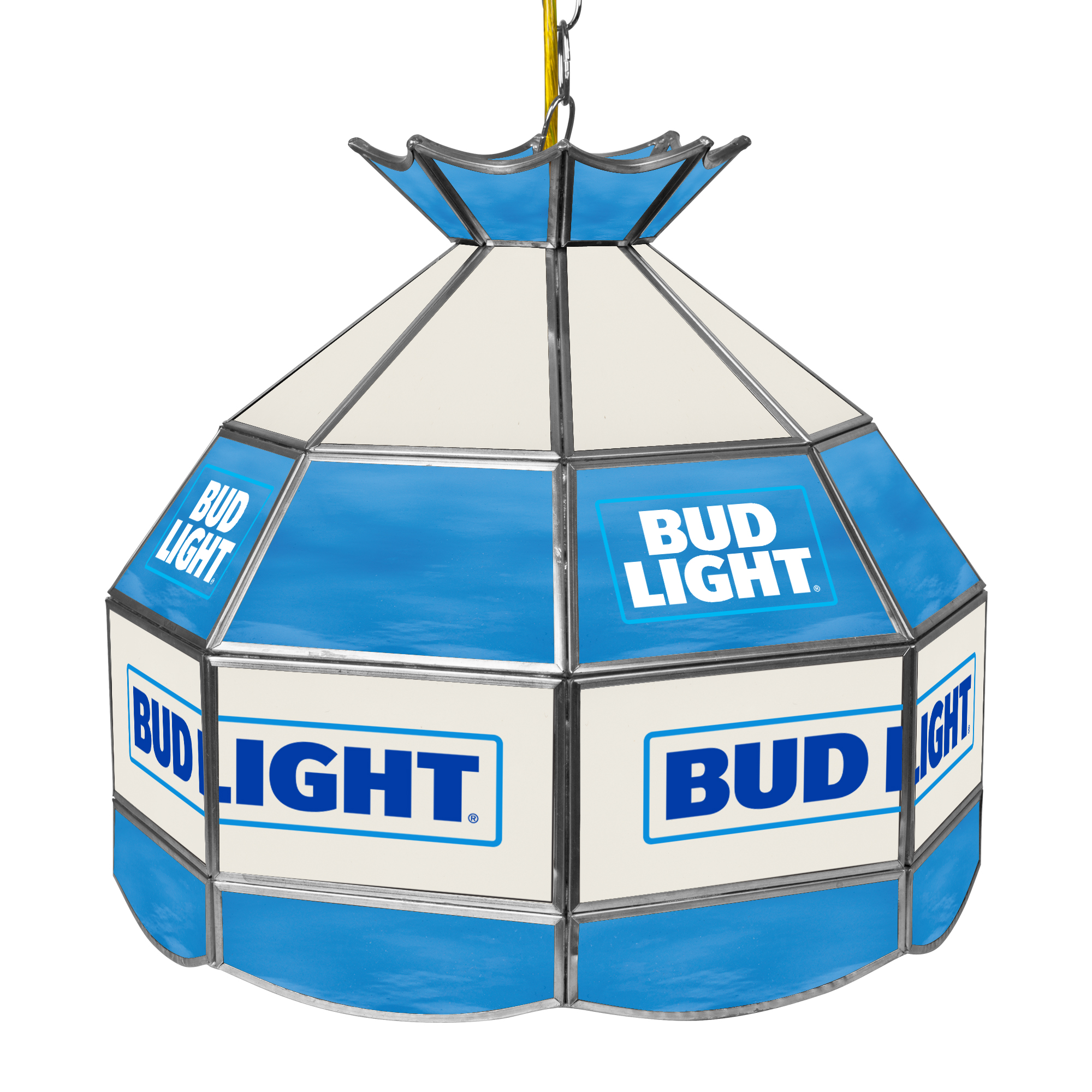 Bud Light 16 inch Stained Glass Tiffany Style Lamp