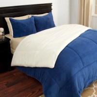 Lavish Home Lavish Home 3 Piece Sherpa/Fleece Comforter ...