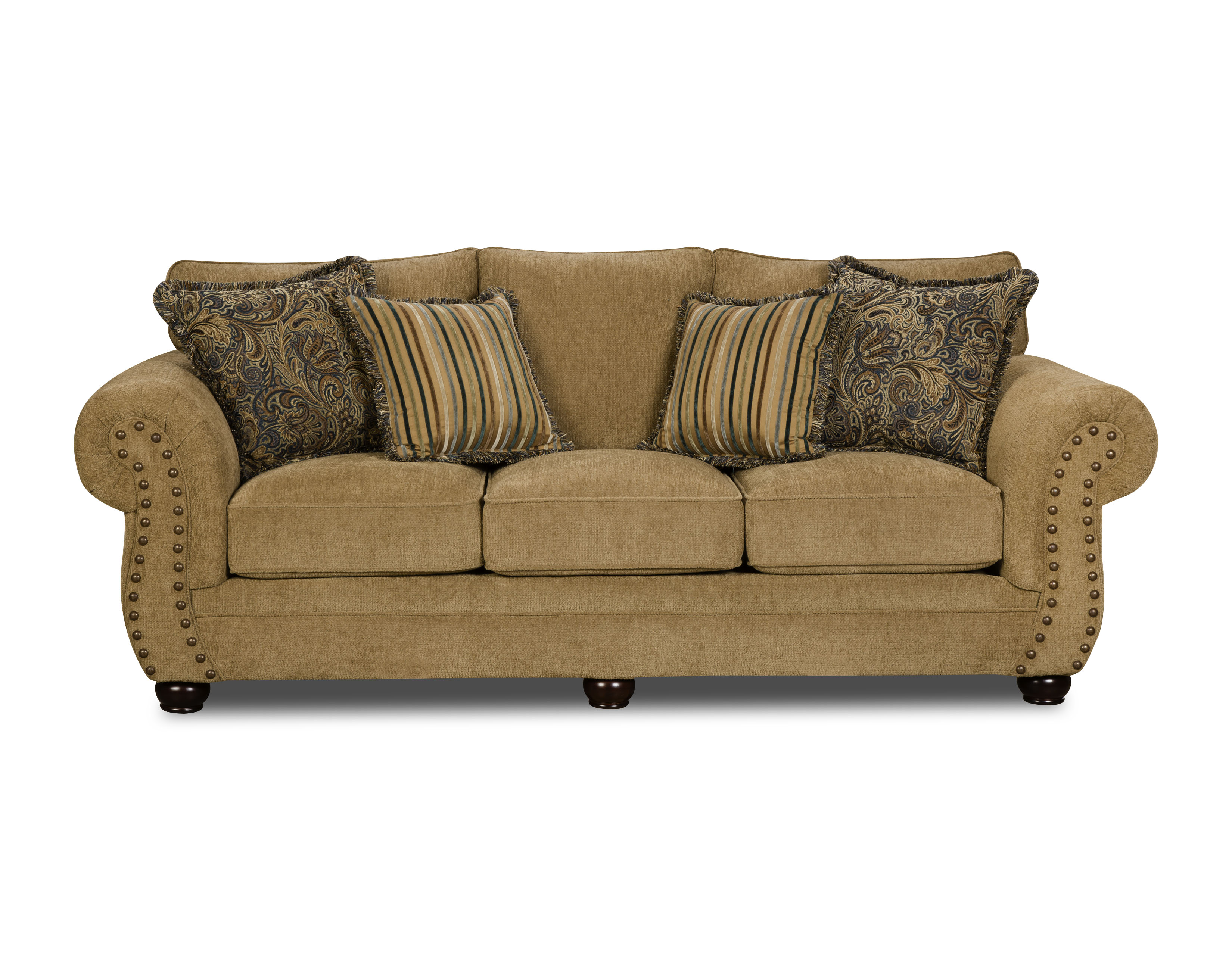 sears outlet bean bag chairs low back beach chair sofas 5034 br wisc sofa wisconsin chocolate