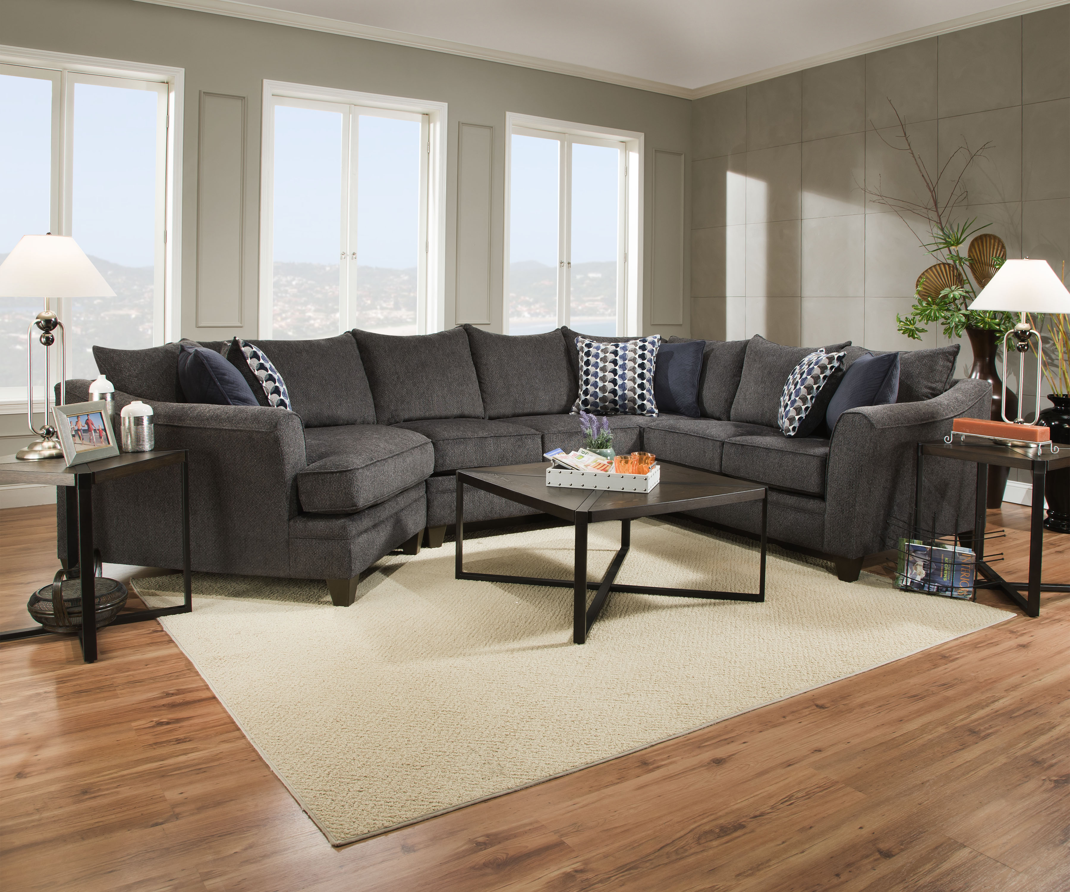 grey sectional sofa ideas pottery barn slipcovered knockoff simmons madelyn laf end wedge - albany slate