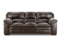 Simmons Dylan Faux Leather Sofa - Bingo Brown