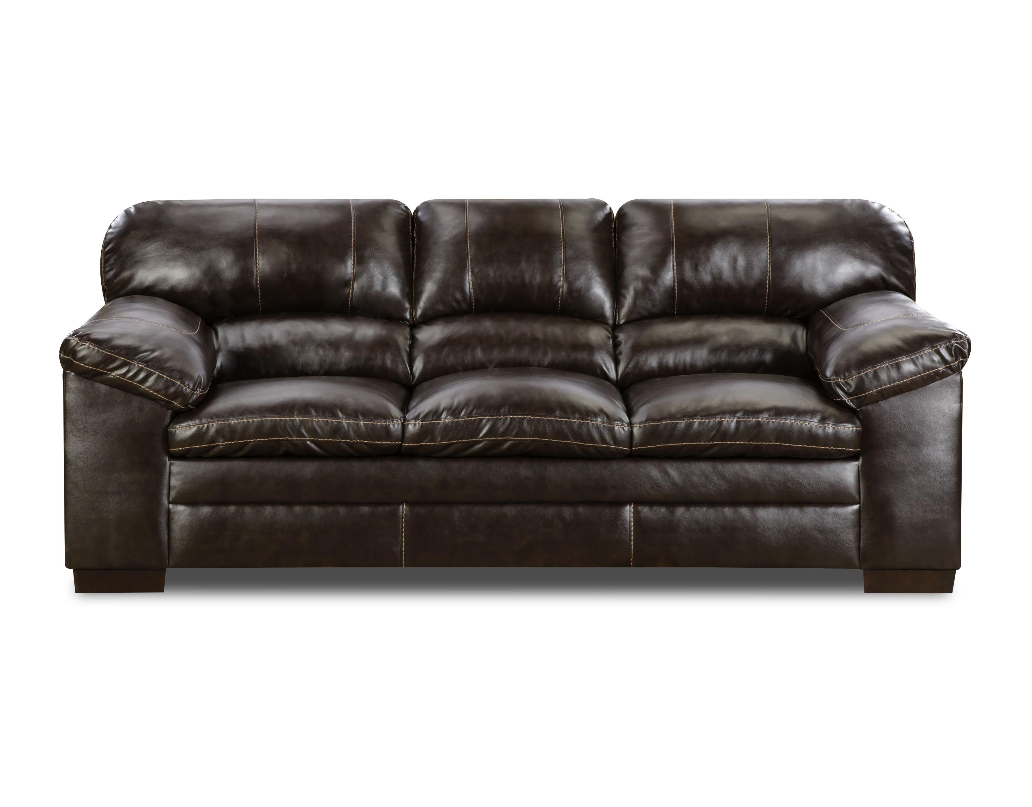 Simmons Dylan Faux Leather Sofa  Bingo Brown