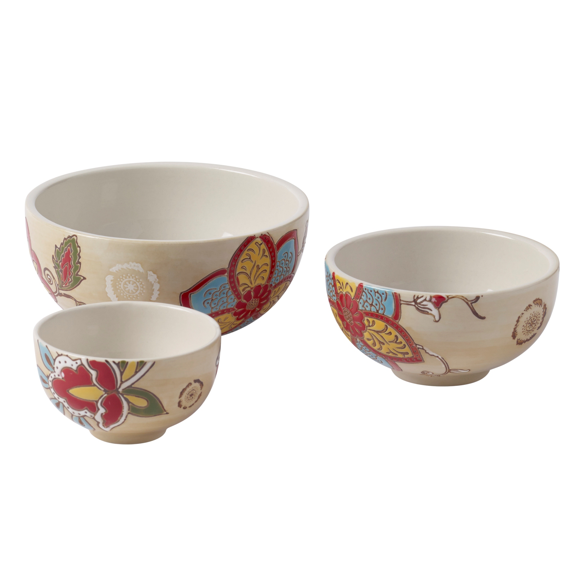 Tabletops Unlimited Stephanie Set Of 3 Nested Bowls