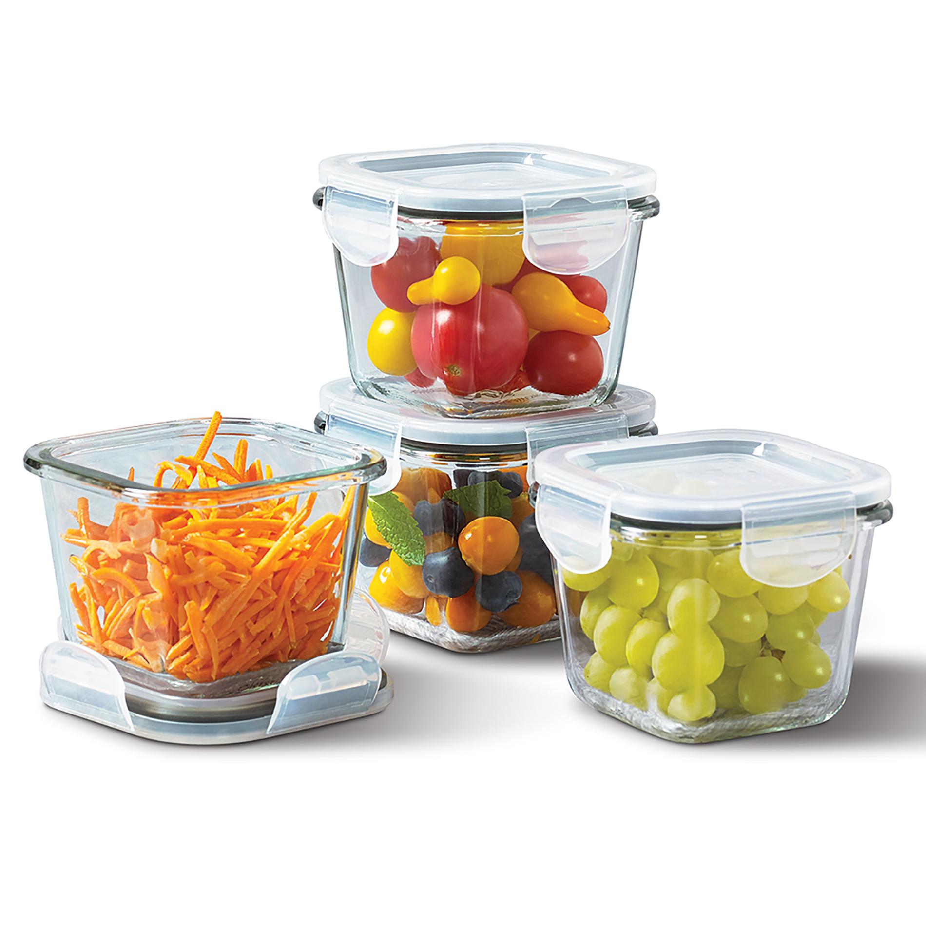Tabletops Unlimited 8pc. Mini Square Glass Storage