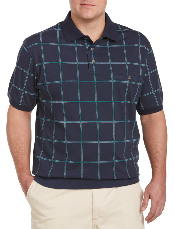 Harbor Bay Men' Big And Tall Large Square Banded-bottom Shirt Online Shopping