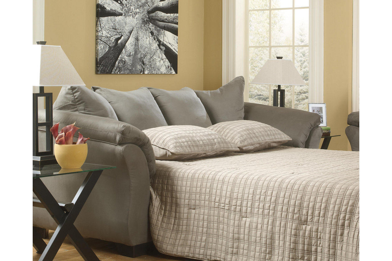 ashley furniture darcy sofa sleeper how to put on a pottery barn slipcover signature design by full