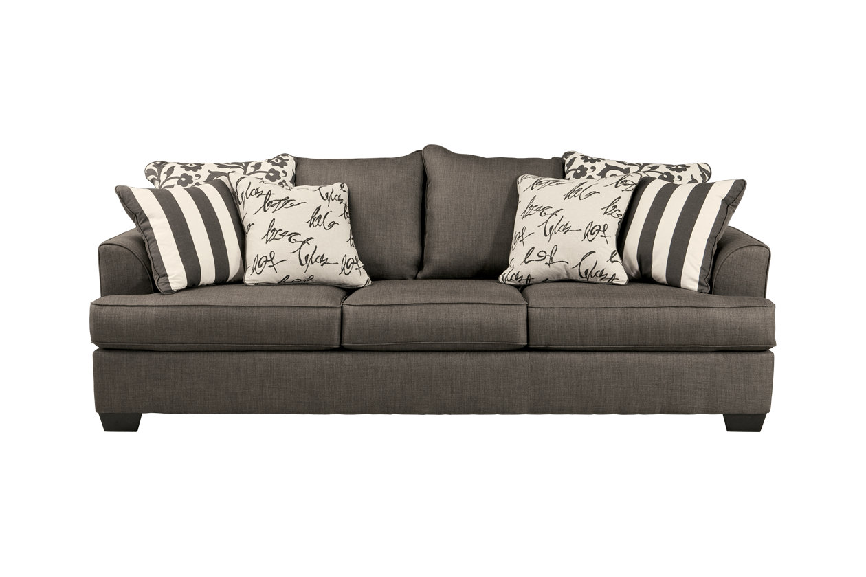 tomas fabric sofa chaise convertible bed dark java contemporary grey uk lifestyle solutions marin queen size signature design by ashley milo italia levon collection 96 sleeper with upholstery