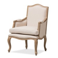 Baxton Studio Nivernais Wood Traditional French Accent Chair
