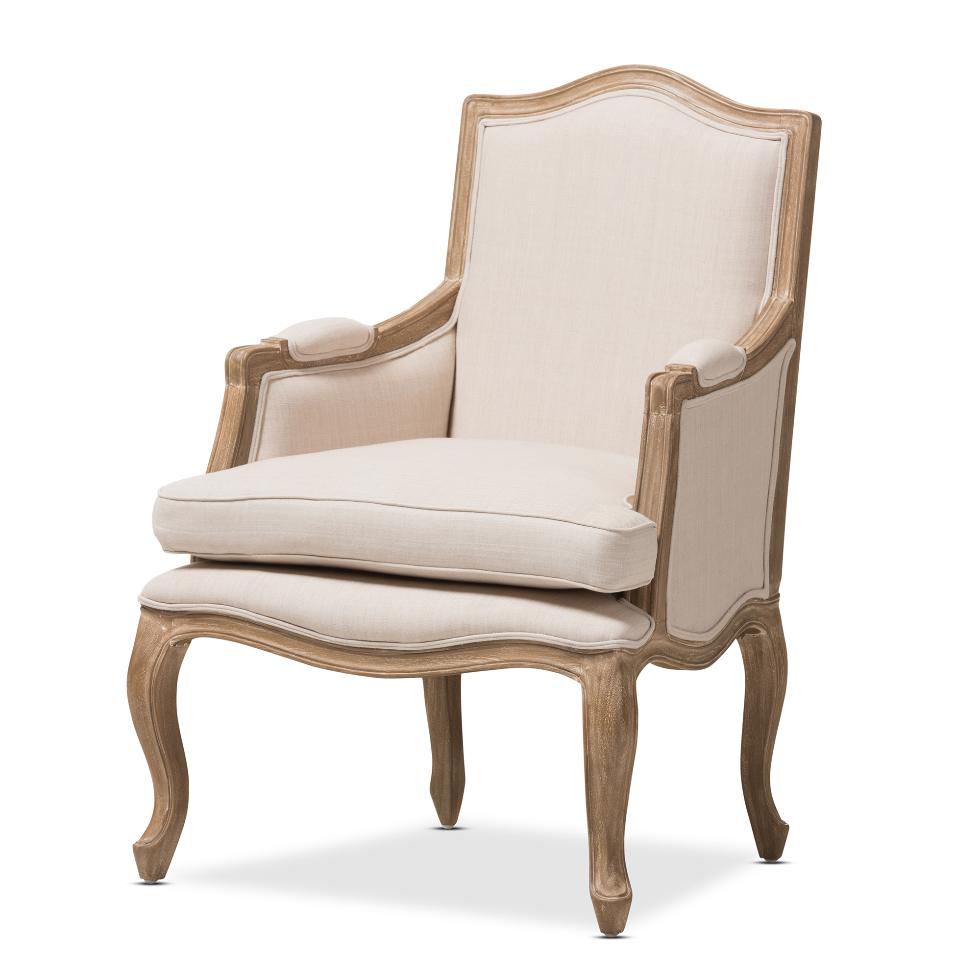 Studio Chairs Baxton Studio Nivernais Wood Traditional French Accent Chair