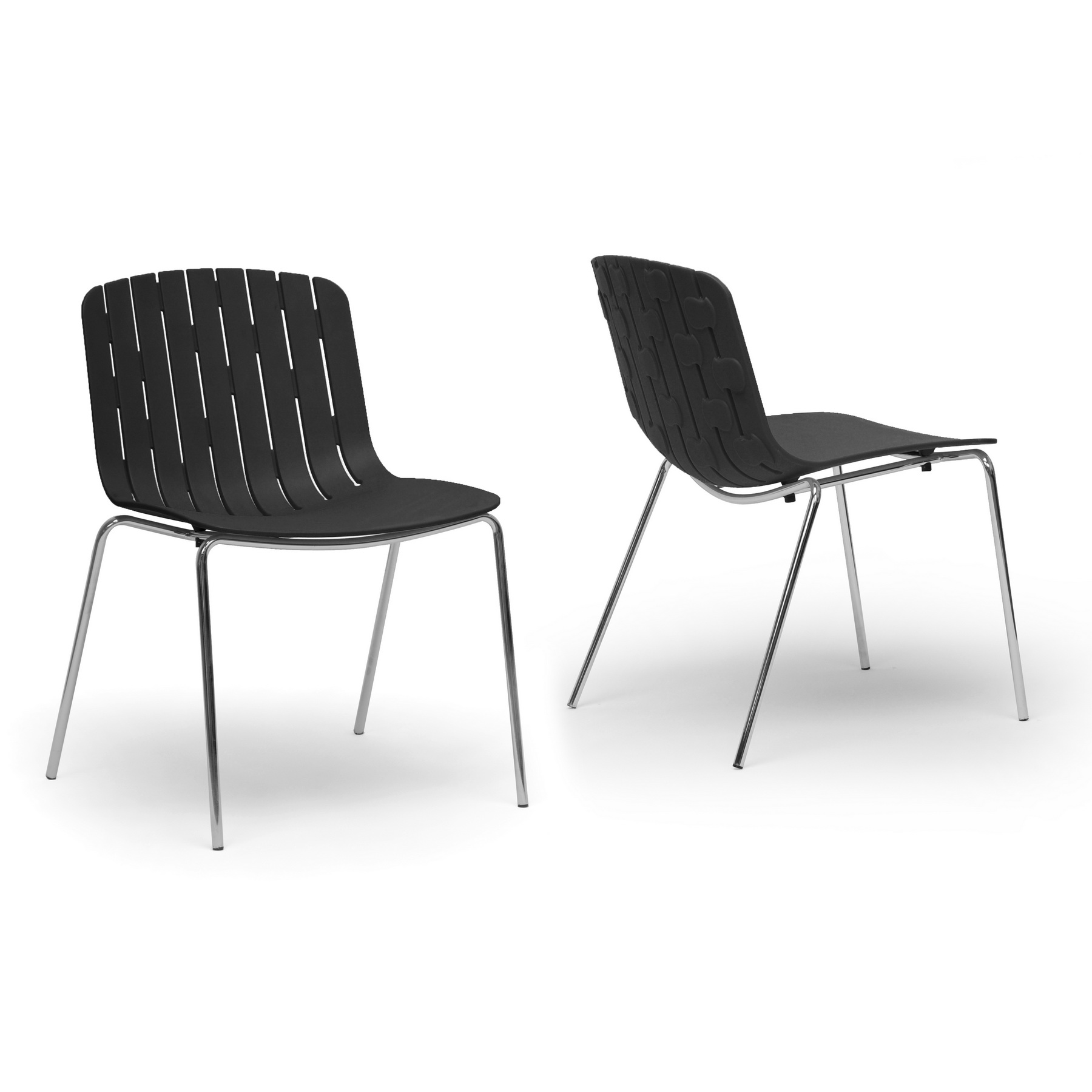 Plastic Dining Chairs Baxton Studio Florissa Black Plastic Modern Dining Chair