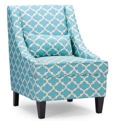 Blue Pattern Accent Chair Elastic Arm Covers Baxton Studio Lotus Contemporary Fabric Armchair Light