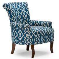Baxton Studio Dixie Contemporary Fabric Armchair - Navy ...