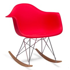 Mid Century Modern Plastic Chairs Rocking Horse Chair For Baby Baxton Studio Dario Red